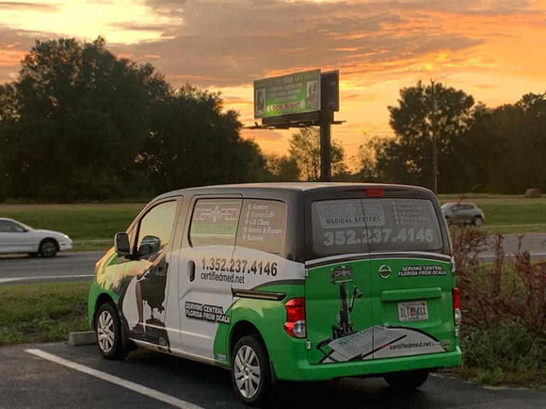 Certified Medical Van Billboard Sunset