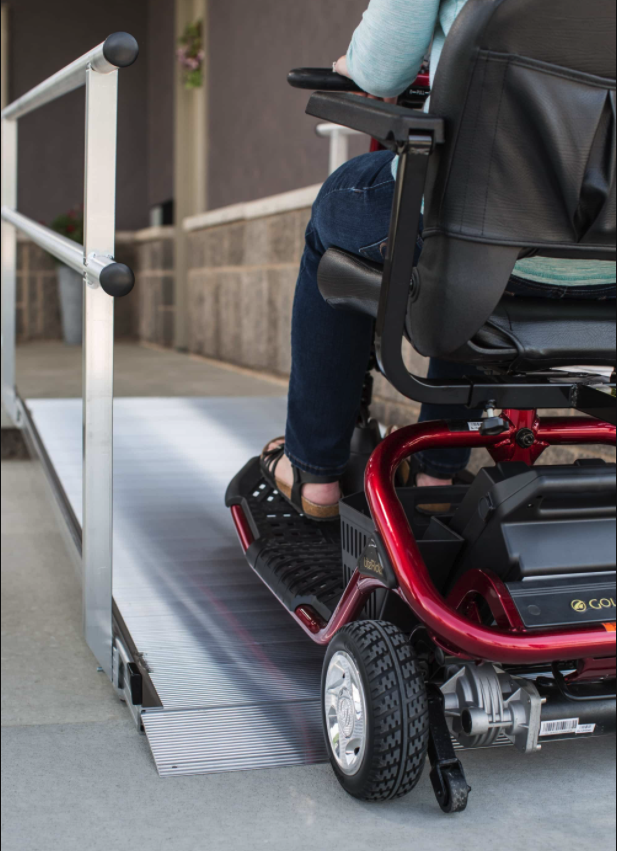 Scooter on Accessible Ramp